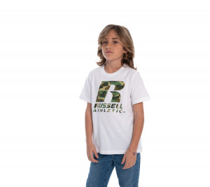 RSL0010 RUSSELL ATHLETIC T-SHIRT CAMO LOGO