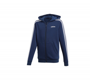 DX2473 ADIDAS ΖΑΚΕΤΑ ΜΕ ΚΟΥΚΟΥΛΑ ESSENTIALS 3-STRIPES FZ HOODIE